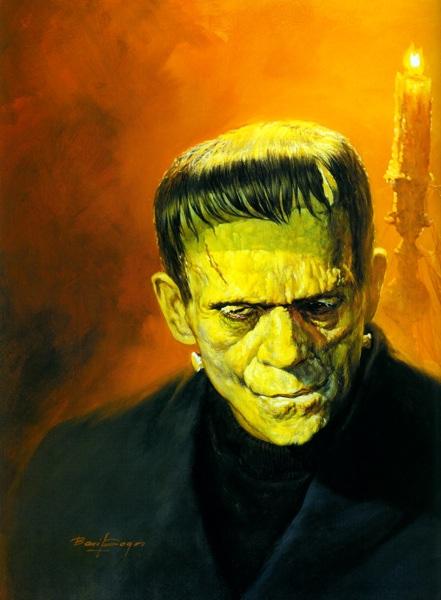 The monster in frankenstein